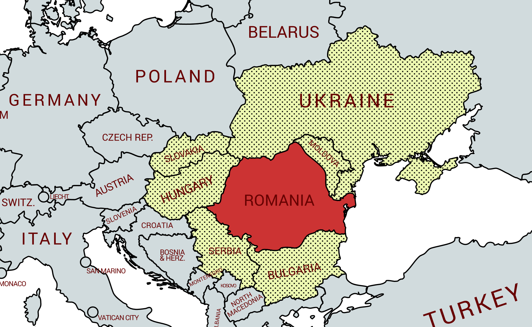 Image of: Romania Barry S Borderpoints